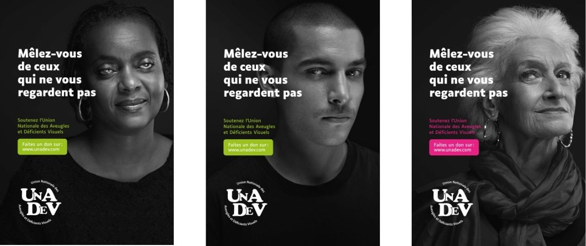 Affiches de la campagne de sensibilsation de l'Unadev