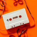 cassette audio, K7, mono couleur, orange, pop
