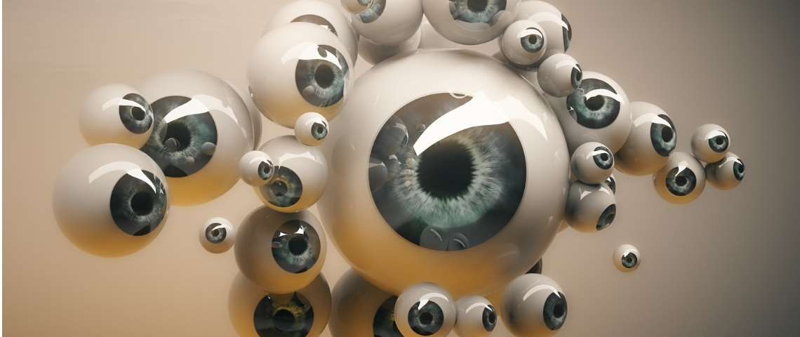 De nombreux globes oculaires
