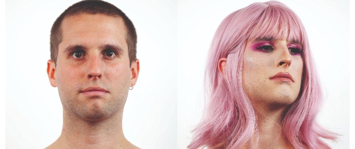 Matthieu Maurer avant et après maquillage