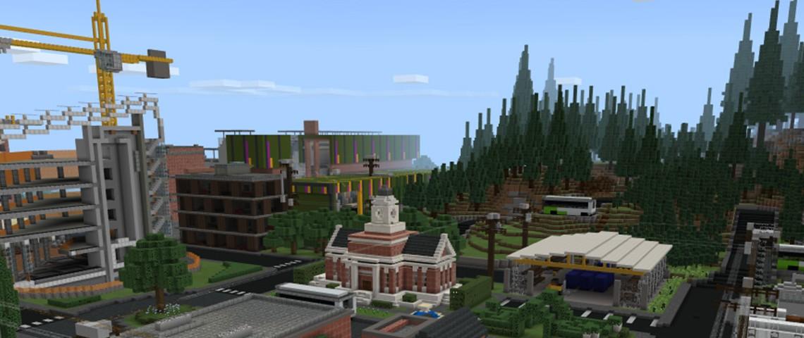 Capture d'écran de Sustainability city dans Minecraft