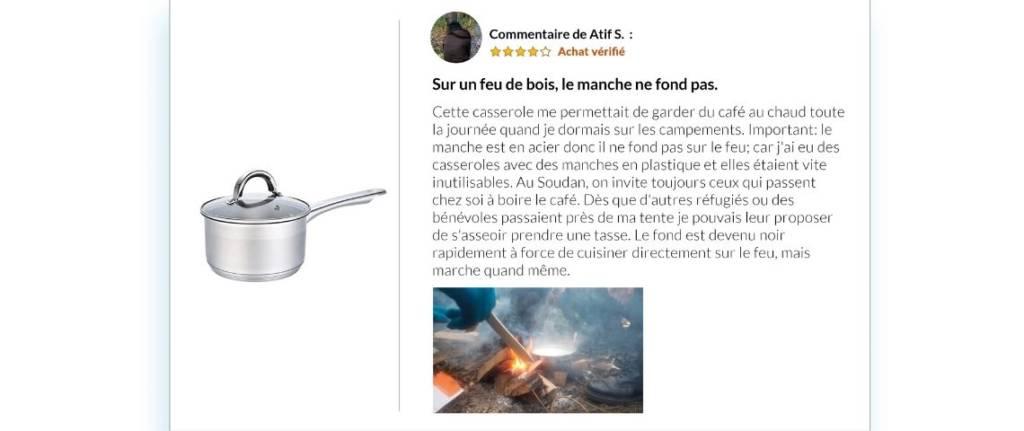 Commentaire d'un migrant sur la nécessité d'avoir une bonne casserole