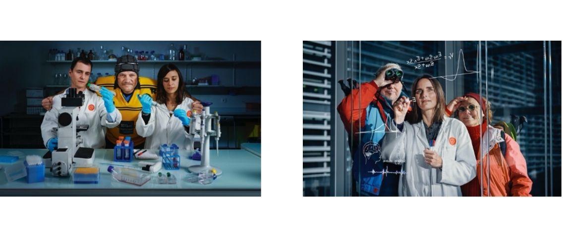 Chercheurs dans un laboratoire