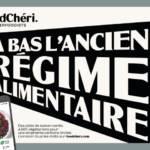 Visuel de la campagne : A bas l'ancien régime alimentaire