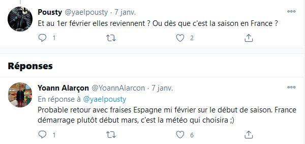 Echange de Yoann Alarçon avec un internaute