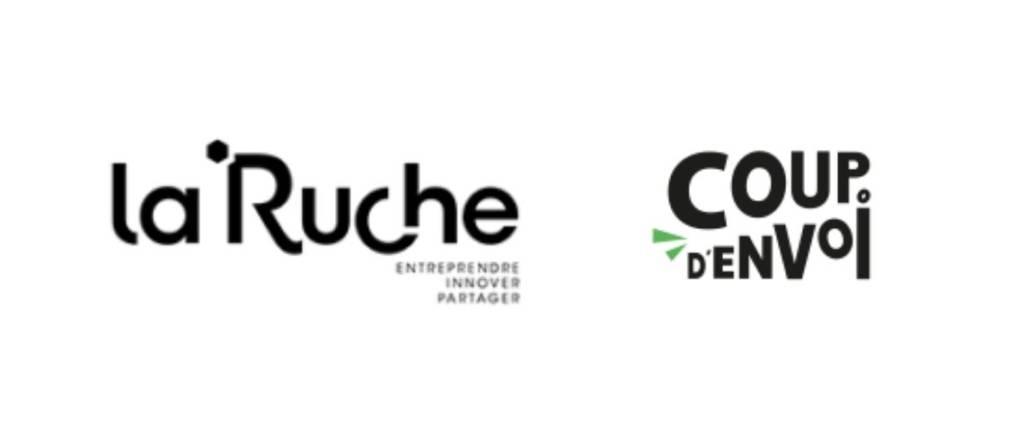 """Logo La ruche et son programme """"Coup d'envoi"""""""