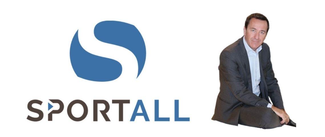 Logo Sportall et photo de François Presenti
