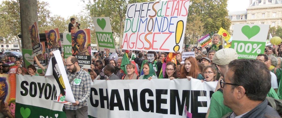 Une manifestation en faveur du climat à Paris