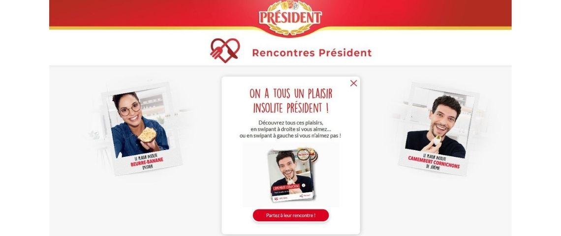 Capture du site rencontres-président