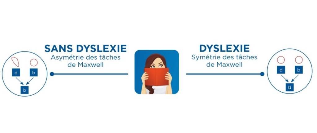 Schéma du défaut de vision des dyslexiques