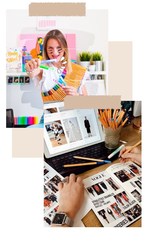 Visuel de la campagne BeInfluence x Stabilo mettant en scène les crayons de la marque