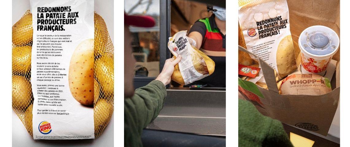 Affiches de la campagne  - Redonner la patate aux producteurs français -