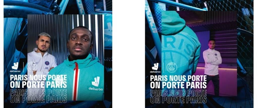« Paris nous porte, on porte paris » le nouvel équipement Deliveroo dédié aux livreurs, aux couleurs de paris et en collaboration avec le PSG
