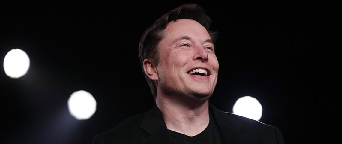 Elon Musk lors d'une conférence en 2019