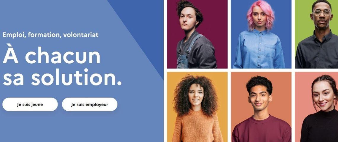 Capture de la plateforme #1Jeune1Solution avec différents profils de jeunes