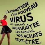 Affiche Grande braderie de la mode de Aides