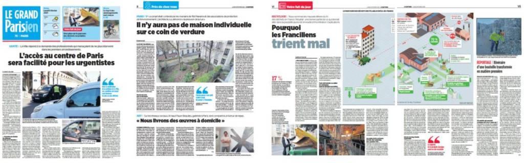 """Pages intérieures du """"Grand Parisien"""""""