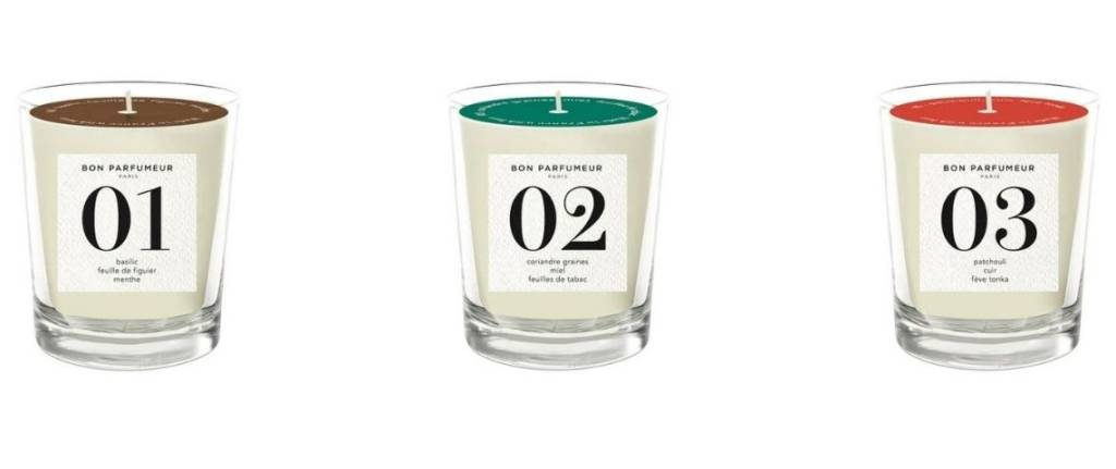 Bougies de la marque le Bon Parfumeur