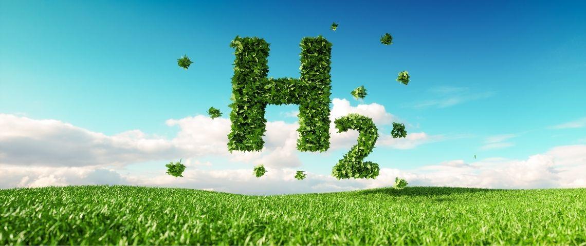 Signe H2 fait en pelouse