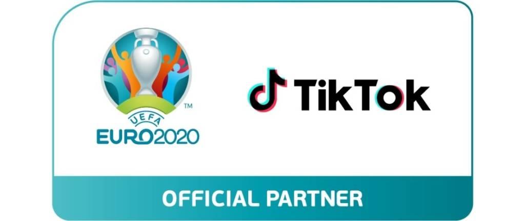 Logo UEFA 2020 et Tiktok