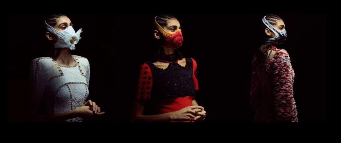 Visuel des 3 masques Haute Couture