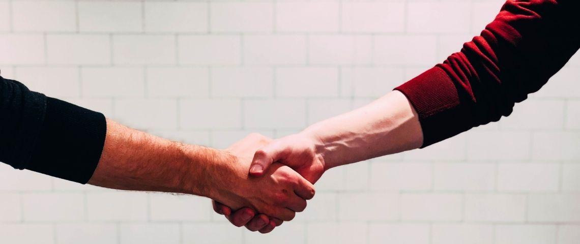 Serrer la main, poignée de mains, mains, business