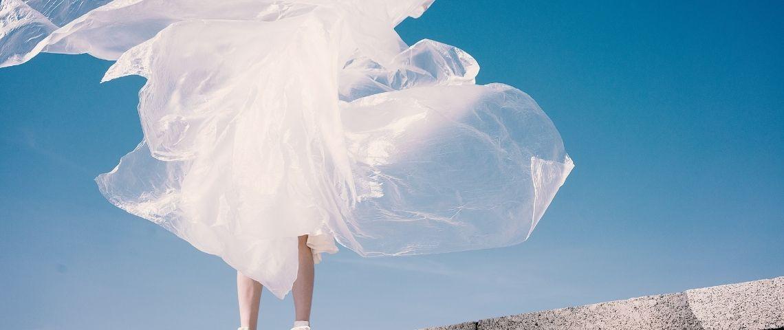 Robe, ciel, blanc, mode