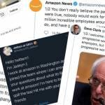 Collage de tweets relatifs à Amazon