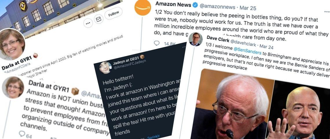 Trolls parodiques, tweets agressifs… Mais que fabrique Amazon sur Twitter ?