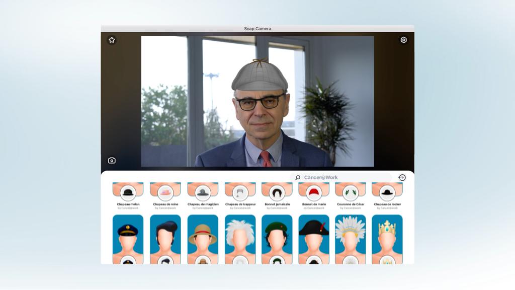 Capture d'écran de la campagne  «Join the colleaguehood» ,, avec des responsables d'entreprises qui portent un chapeau