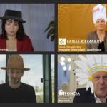 Capture d'écran de la campagne « Join the colleaguehood »,, avec des responsables d'entreprises qui portent un chapeau