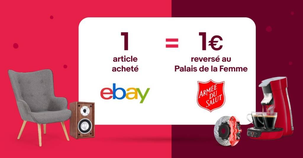 Affiche 1 article acheté sur ebay = 1 euros reversé au Palais de la Femme