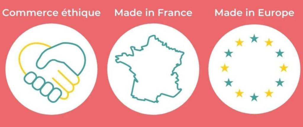Logo : Commerce ethique, Made in France, Made in Europe
