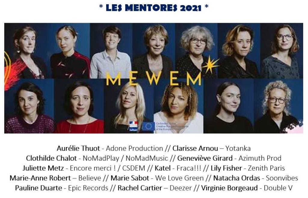 Les mentores 2021 du programme Mewem