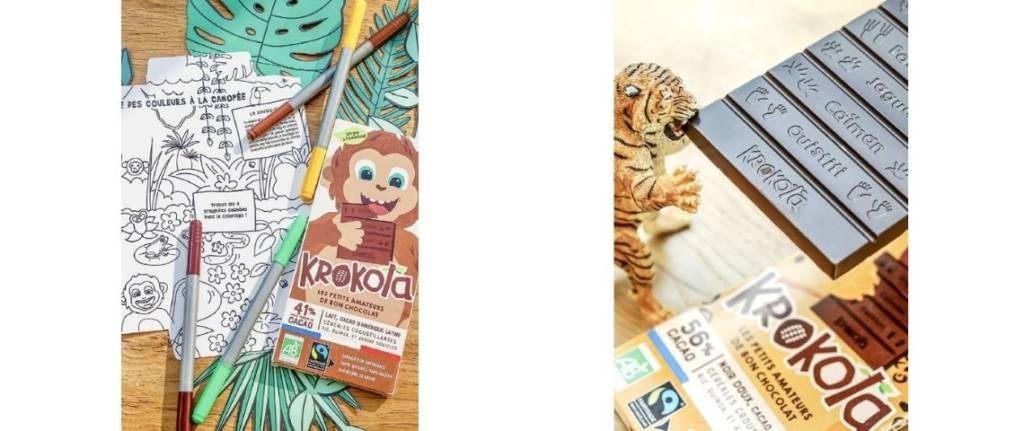 Tablettes de chocolat Krokola