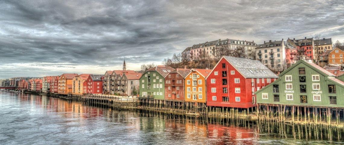 Maison colorées Norvégiennes