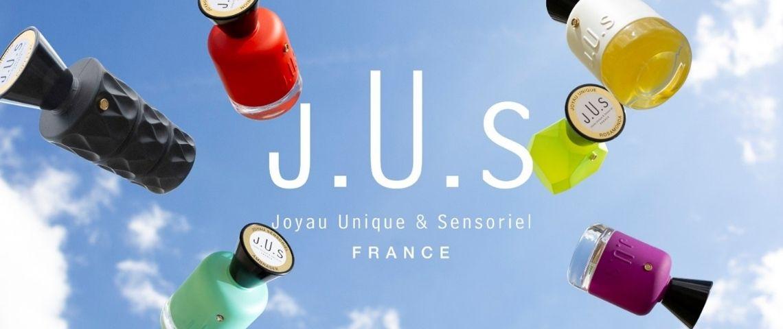Bouteille de parfums J.U.S