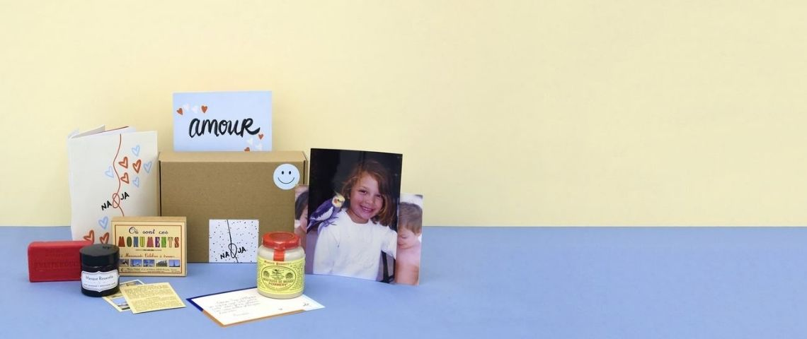 Contenu possible d'une box Na&Ja : Photo, cadeau, confiture, jeu...