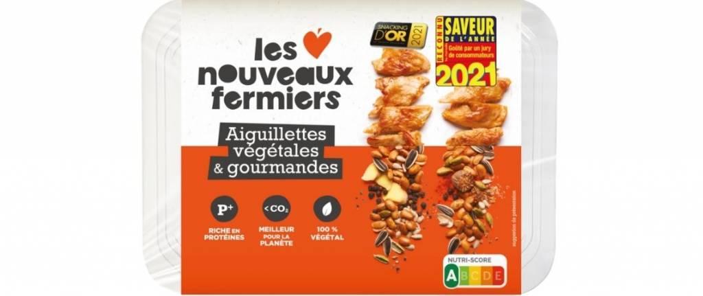Packaging des Aiguillettes végétales des Nouveaux Fermiers