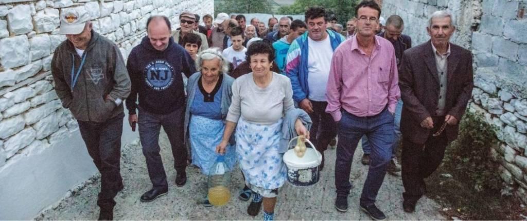 Mobilisation des habitants de la vallée de la Vjosa