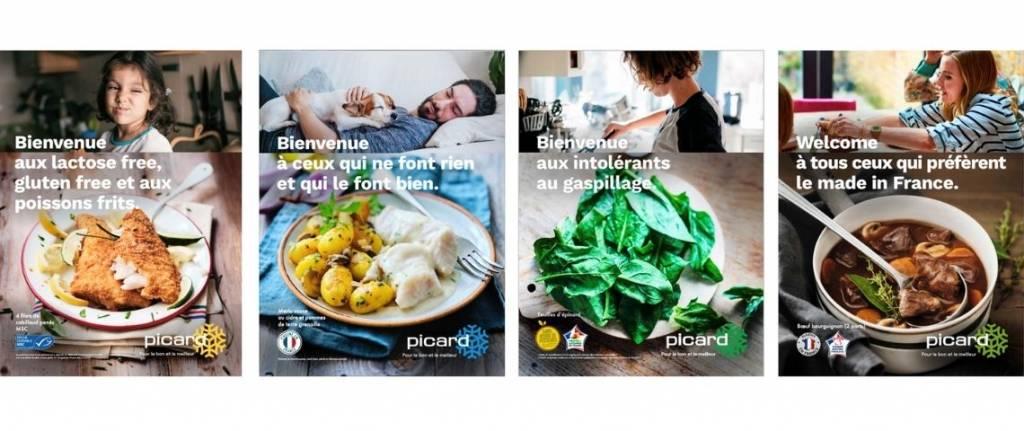 Visuel de la campagne mettant en avant des produits sans Lactose ou Made In France