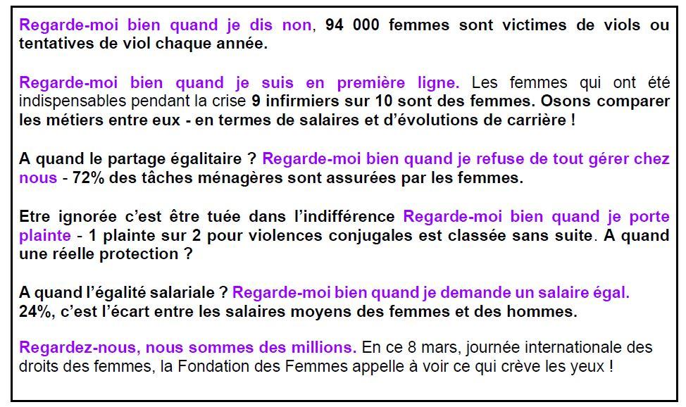 Manifeste de la Fondation des femmes