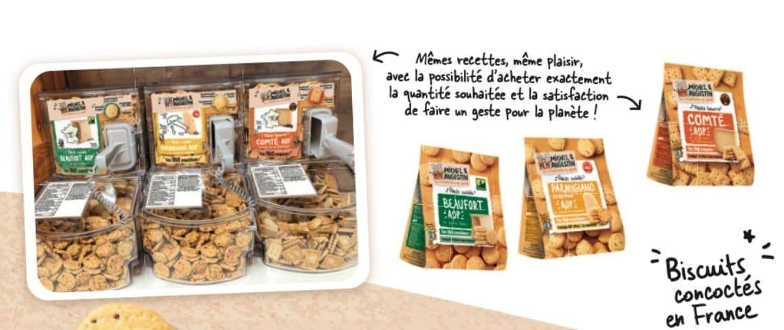 Campagne de lancement Michel & Augustin en vrac + sachets