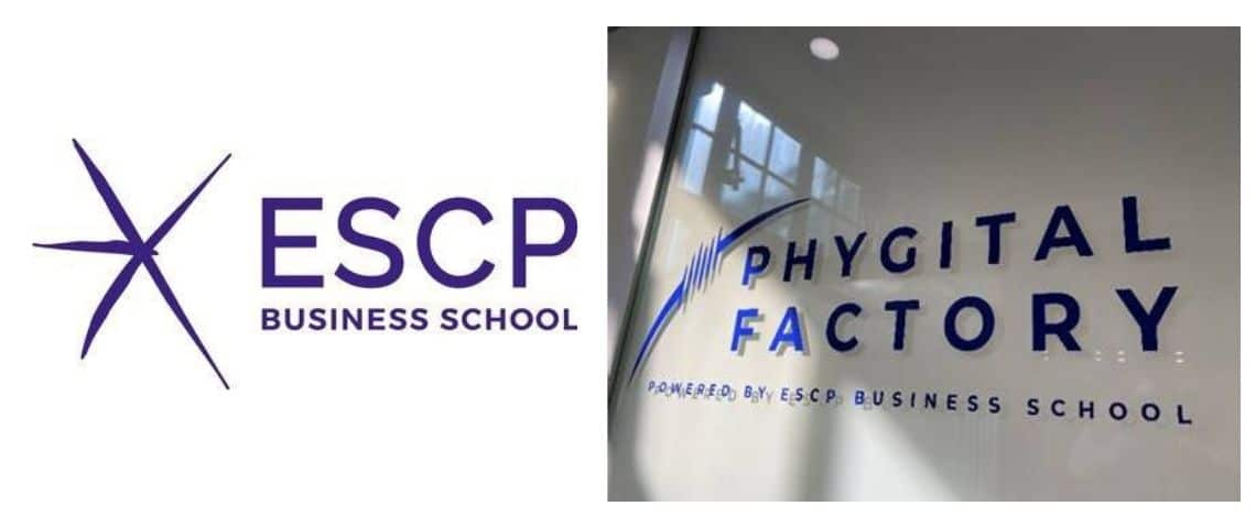 ESCP Business School et son affichage pour  - Phygital Factory -