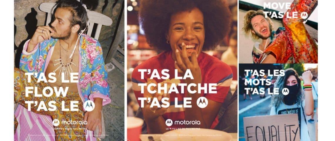 Plusieurs images de la dernière campagne Motorola, jeunes heureux