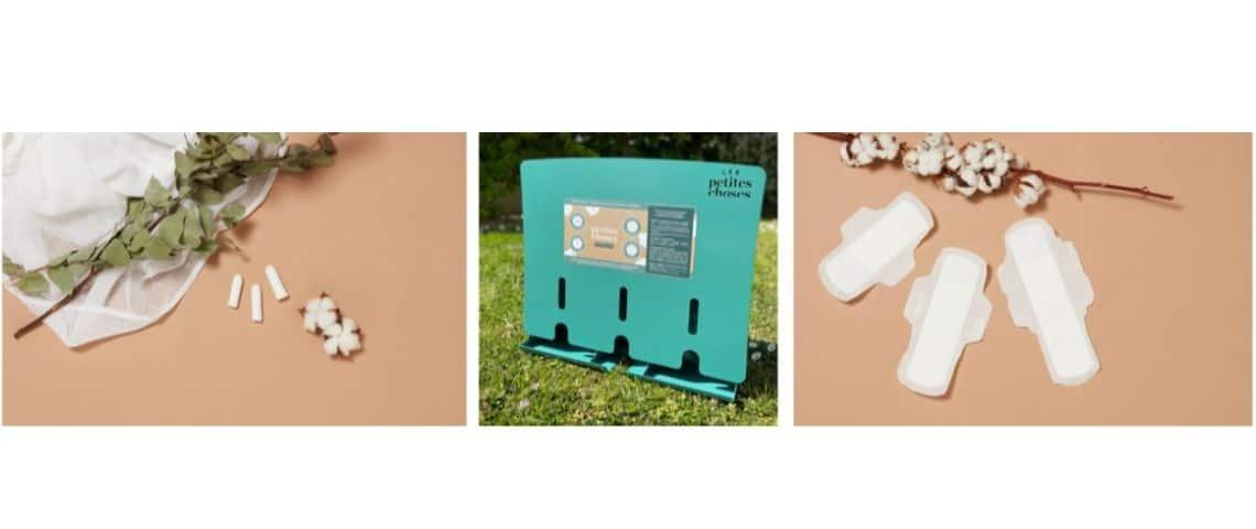 Protections hygiéniques de la marque les petites choses