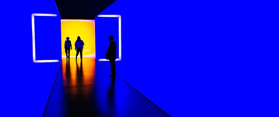 Bleu, exposition, innovation, futur
