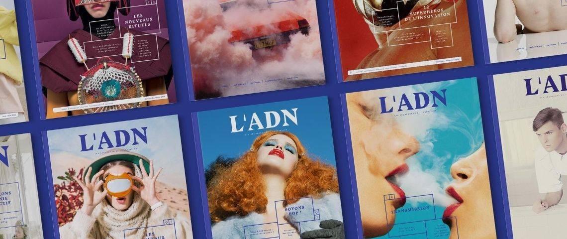 Couvertures magazine L'ADN