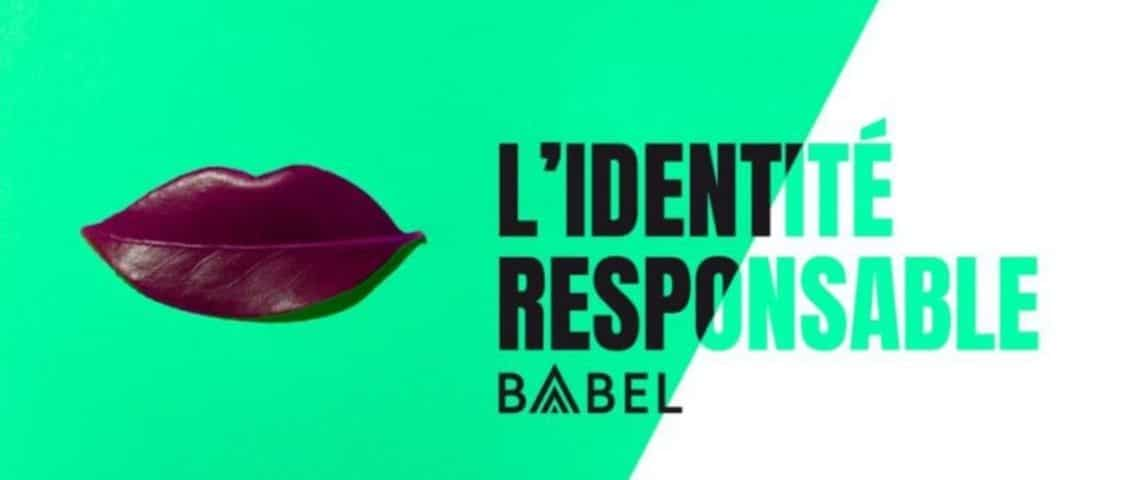 Logo Identite Responsable de Babel avec une feuille d'arbre en forme de bouche