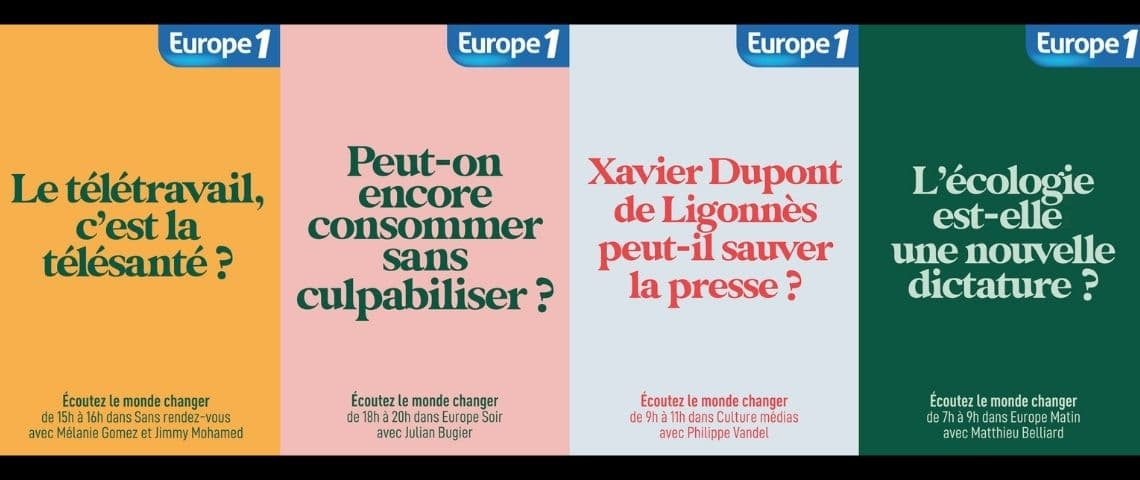 Nouvelle campagne Europe 1